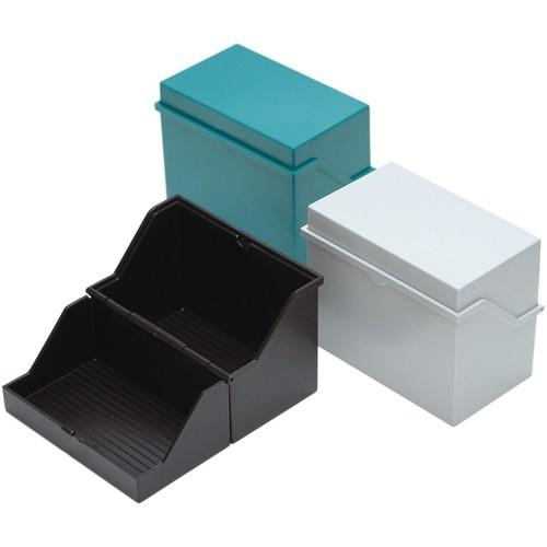 Kleinkartei A5 228x110x170mm für 500Karten schwarz Kunststoff Helit H6214595 Produktbild Additional View 1 L