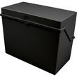 Kleinkartei A5 228x110x170mm für 500Karten schwarz Kunststoff Helit H6214595 Produktbild