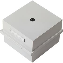 Karteikasten inkl. 1Schwenkstütze A5 236x253x175mm für 900Karten lichtgrau Kunststoff Helit H6212082 Produktbild