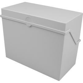 Kleinkartei A6 165x90x130mm für 400Karten lichtgrau Kunststoff Helit H6214682 Produktbild