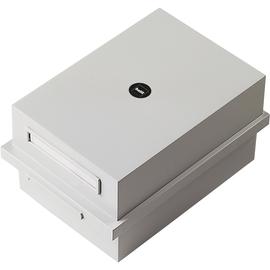 Karteikasten inkl. 1Schwenkstütze A6 173x250x135mm für 900Karten lichtgrau Kunststoff Helit H6212282 Produktbild