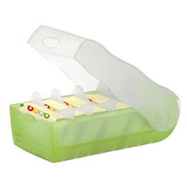 Karteibox Croco inkl. 5 Stützplatten und 100 Karten A8 97x191x67mm für 500Karten grün Kunststoff HAN 998-603 Produktbild