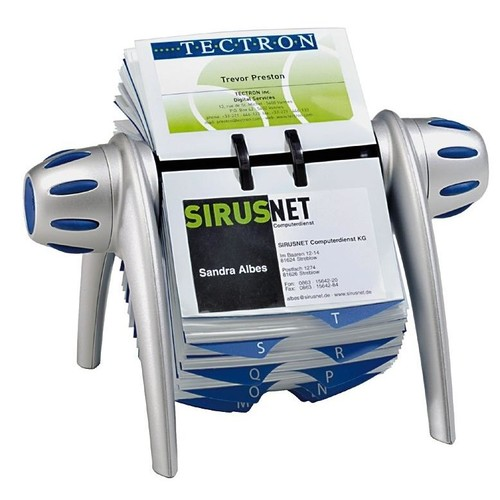 Rolodex Visifix 25-teilig 72x104mm für 400Karten metallic silber Durable 2417-23 Produktbild Additional View 1 L