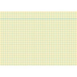 Karteikarten A6 kariert gelb holzfrei RNK 11486 (PACK=100 STÜCK) Produktbild