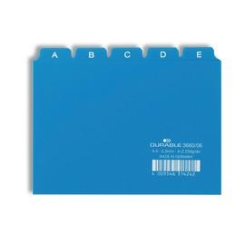 Leitregister A-Z 25-teilig A6quer blau PP Durable 3660-06 Produktbild