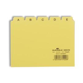 Leitregister A-Z 25-teilig A6quer gelb PP Durable 3660-04 Produktbild