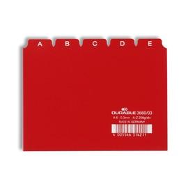 Leitregister A-Z 25-teilig A6quer rot PP Durable 3660-03 Produktbild