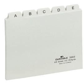 Leitregister A-Z 25-teilig A6quer weiß PP Durable 3660-02 Produktbild