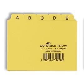 Leitregister A-Z 25-teilig A7quer gelb PP Durable 3670-04 Produktbild