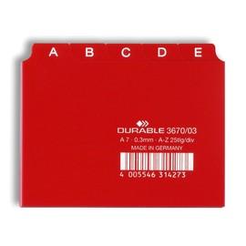 Leitregister A-Z 25-teilig A7quer rot PP Durable 3670-03 Produktbild