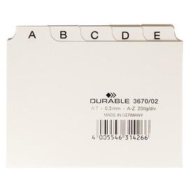 Leitregister A-Z 25-teilig A7quer weiß PP Durable 3670-02 Produktbild