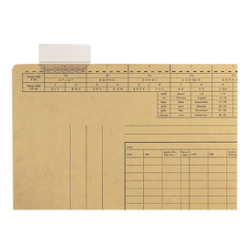 Vollsichtreiter für Einstellmappen 4-zeilig 60mm breit transparent Leitz 2456-00-00 (PACK=50 STÜCK) Produktbild