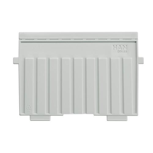 Stützplatte A6 quer lichtgrau Kunststoff HAN 9026-11 Produktbild Front View L