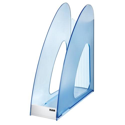 Stehsammler TWIN 76x257x239mm blau transparent kunststoff HAN 1611-64 Produktbild Additional View 2 L