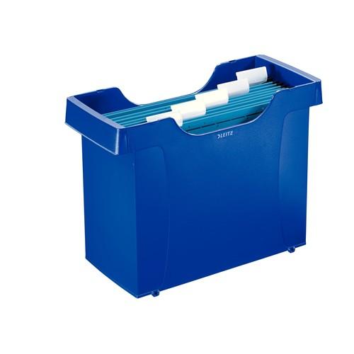 Mini-Aktei Plus inkl. 5 farbigen Hängemappen 370x260x162mm für 20 Hängemappen blau Leitz 1993-00-35 Produktbild Front View L