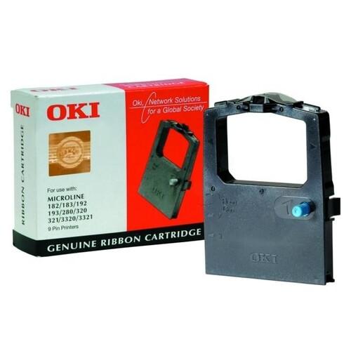 Farbband für ML180/1822/280/320/3320 schwarz Nylon Oki 09002303 Produktbild Front View L