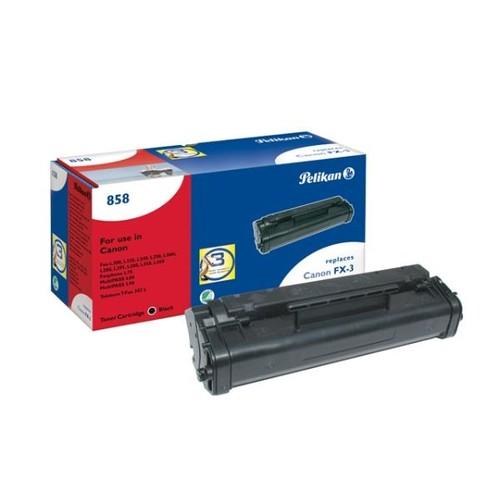 Toner Gr. 858 (FX-3) für Fax L200/220/2240/250 2700Seiten schwarz Pelikan 619239 Produktbild Front View L