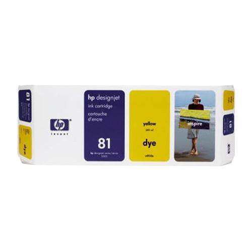 Tintenpatrone 81 für HP DesignJet 5000/5500 680ml yellow HP C4933A Produktbild Front View L