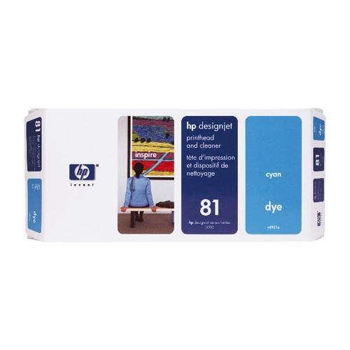Druckkopfpatrone inkl. Reiniger 81 für HP DesignJet 5000/5500 13ml cyan HP C4951A Produktbild Front View L