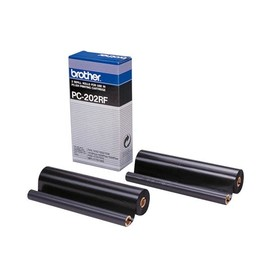 Thermotransferrolle für Fax 1010/MFC1025 420Seiten schwarz Brother PC202RF (PACK=2 STÜCK) Produktbild