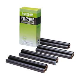 Thermotransferrolle für Fax T72/74/76/78 144Seiten schwarz Brother PC74RF (PACK=4 STÜCK) Produktbild