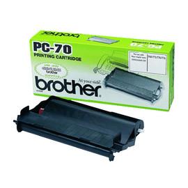 Mehrfachkassette + Thermotransferrolle für Fax T72/74/76/78 144Seiten schwarz Brother PC70 Produktbild