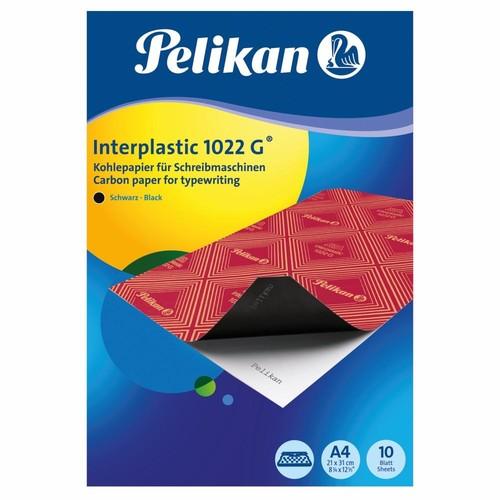 Kohlepapier Interplastic 1022G für Schreibmaschinen A4 Pelikan 401026 (PACK=10 BLATT) Produktbild Additional View 1 L