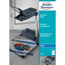 Overhead-Folie Inkjet A4 110µ transparent Zweckform 2502 (PACK=50 STÜCK) Produktbild