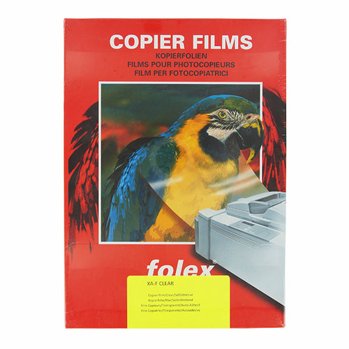 Laser+Kopierfolie XA-F A4 0,05mm farblos klar selbstklebend Folex 26230.050.44000 (PACK=100 BLATT) Produktbild Front View L