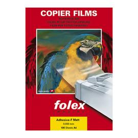 Laser+Kopierfolie XA-F A4 0,05mm farblos matt selbstklebend Folex 26200.050.44000 (PACK=100 BLATT) Produktbild