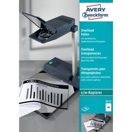 Kopierfolien A4 0,10mm transparent kopfseitig verleimtes Papier Zweckform 3557 (PACK=100 BLATT) Produktbild