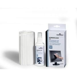 Reinigungsset Screenclean 125ml Spray + 20 Vliestücher Durable 5707-00 Produktbild