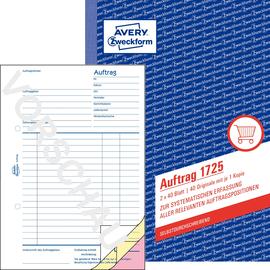 Auftragsbuch A5 hoch 2x40Blatt selbstdurchschreibend Zweckform 1725 Produktbild