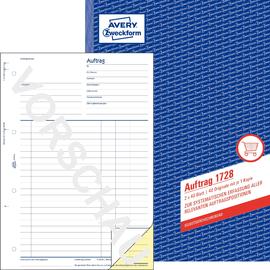 Auftragsbuch A4 2x40Blatt selbstdurchschreibend Zweckform 1728 Produktbild