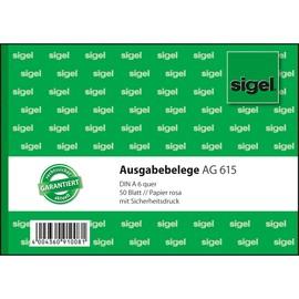 Ausgabebelegebuch A6 quer 50Blatt mit Sicherheitsdruck Sigel AG615 Produktbild