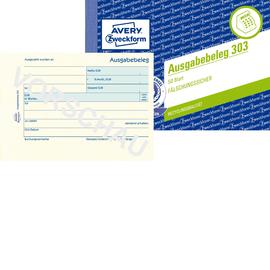 Ausgabebelegebuch A6 quer 50Blatt recycling Zweckform 303 Produktbild
