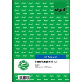 Bestellscheinbuch A5 2x50Blatt mit Blaupapier Sigel BE525 Produktbild