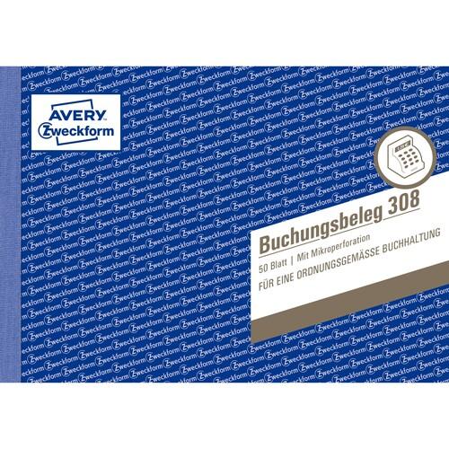 Buchungsbelegebuch A5 quer 50Blatt Zweckform 308 Produktbild Additional View 1 L
