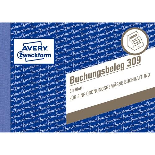 Buchungsbelegebuch A6 quer 50Blatt Zweckform 309 Produktbild Additional View 1 L