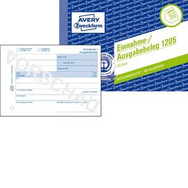 Einnahme-/ Ausgabebeleg A6 quer 50Blatt recycling mit Blaupapier Zweckform 1205 Produktbild