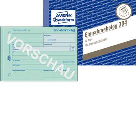 Einnahmebeleg A6 quer 50Blatt mit Sicherheitsdruck Zweckform 304 Produktbild