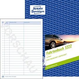 Fahrtenbuch für Pkw A5 hoch 40Blatt recycling geheftet Zweckform 1222 Produktbild