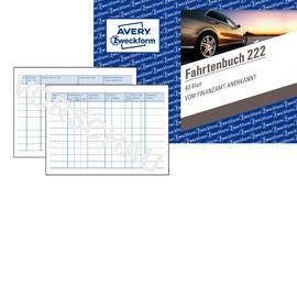 Fahrtenbuch für Pkw A6 quer 40Blatt geheftet Zweckform 222 Produktbild