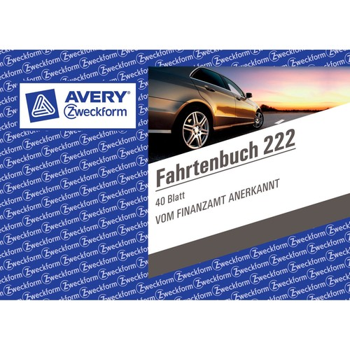 Fahrtenbuch für Pkw A6 quer 40Blatt geheftet Zweckform 222 Produktbild Additional View 2 L