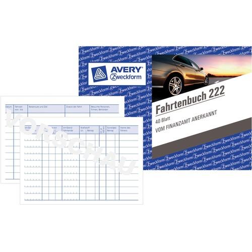 Fahrtenbuch für Pkw A6 quer 40Blatt geheftet Zweckform 222 Produktbild Additional View 3 L