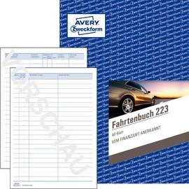 Fahrtenbuch für Pkw A5 hoch 40Blatt geheftet Zweckform 223 Produktbild