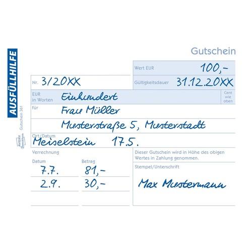 Gutscheinbuch A6 quer 2x50Blatt mit Blaupapier Zweckform 361 Produktbild Additional View 7 L