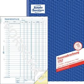 Kassenabrechnung A4 2x40Blatt selbstdurchschreibend Zweckform 1757 Produktbild