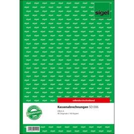 Kassenabrechnung A4 2x40Blatt selbstdurchschreibend Sigel SD006 Produktbild