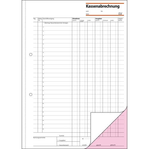 Kassenabrechnung A4 2x50Blatt mit Blaupapier Sigel KG425 Produktbild Additional View 2 L